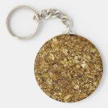 Gold Nuggets Keychain Basic Round Button Keychain