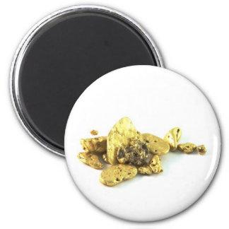 Gold Nuggets Magnet