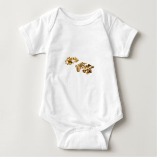 Gold Nuggets On White Baby Bodysuit