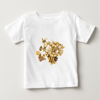 Gold Nuggets On White Baby T-Shirt