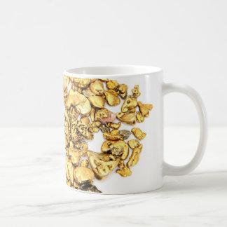 Gold Nuggets On White Coffee Mug