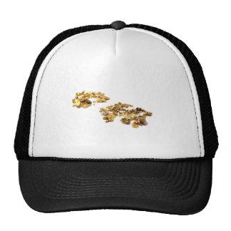 Gold Nuggets On White Trucker Hat