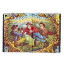 Gold Nuggets Vintage art old west cowboys Case For iPad Air