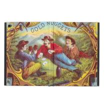 Gold Nuggets Vintage art old west cowboys Powis iPad Air 2 Case