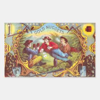 Gold Nuggets Vintage Cigar Label