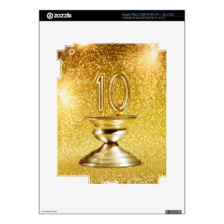 Gold Number 10 Trophy iPad 3 Skin