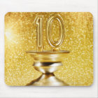 Gold Number 10 Trophy Mouse Pad