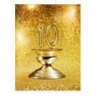 Gold Number 10 Trophy Postcard