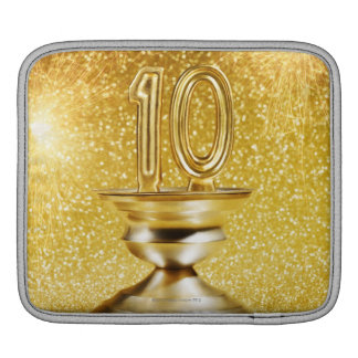 Gold Number 10 Trophy Sleeve For iPads
