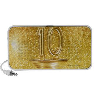 Gold Number 10 Trophy Travel Speaker