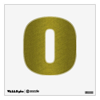 Gold Number Zero Wall Sticker