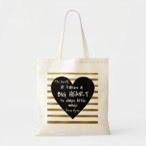 Gold Nursery Thank you Teacher Bag BIG HEART