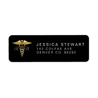 Gold Nursing Symbol | Custom Label