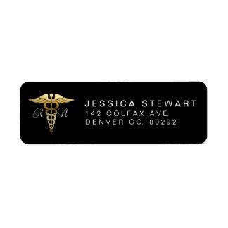 Gold Nursing Symbol | Custom Label