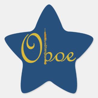 Gold Oboe Star Sticker