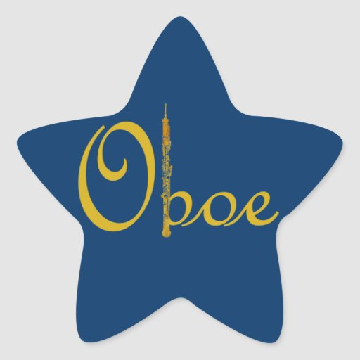 Gold Oboe Stickers