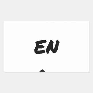 GOLD OCCASION - Word games - François City Rectangular Sticker