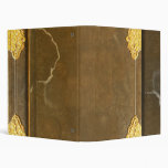 Gold & Old Book Cover 3 Ring Binder