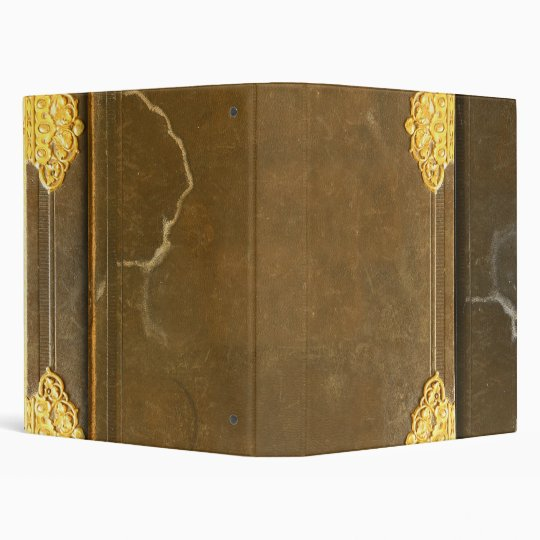 Gold & Old Book Cover Binder
