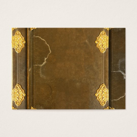 Gold & Old Book Cover Business Card