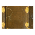 Gold & Old Book Cover Business Cards
