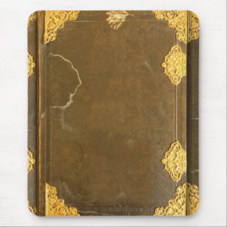 Gold Old Book Cover Mousepads