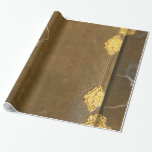 Gold & Old Book Cover Wrapping Paper