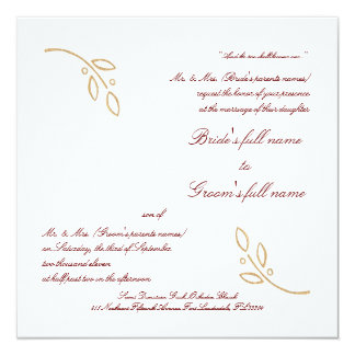 Gold Olive Branch Card