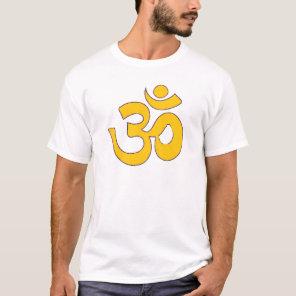 gold om aum sanskrit mantra ,symbol ,Shape of Aum T-Shirt