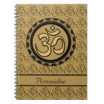 Gold Om Notebook