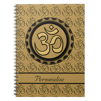 Gold Om Notebook