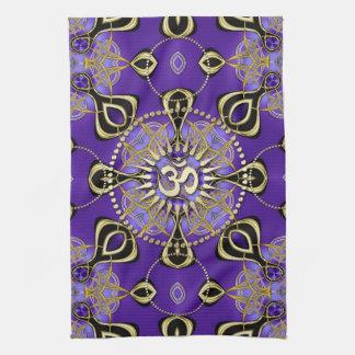 Gold OM Purple Goa Skies New Age Home Decor Kitchen Towels