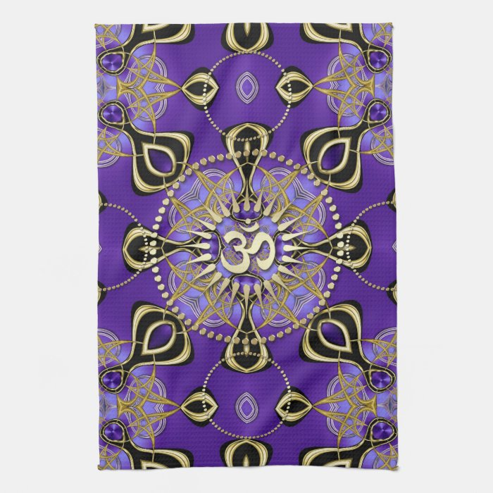 gold om purple goa skies new age home decor kitchen towels new age design home design ideas pictures remodel and decor
