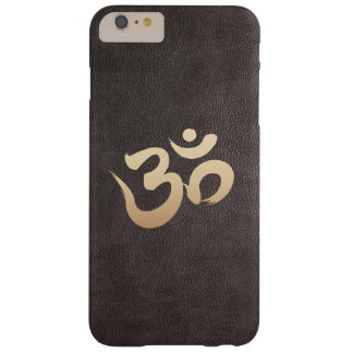 Gold Om Symbol Faux Leather Yoga Barely There iPhone 6 Plus Case