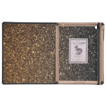 Gold Ombre Faux Glitter Case For iPad