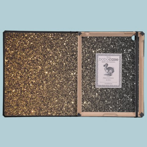 Gold Ombre Faux Glitter iPad Cover