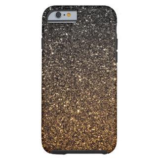 Gold Ombre Faux Glitter Tough iPhone 6 Case