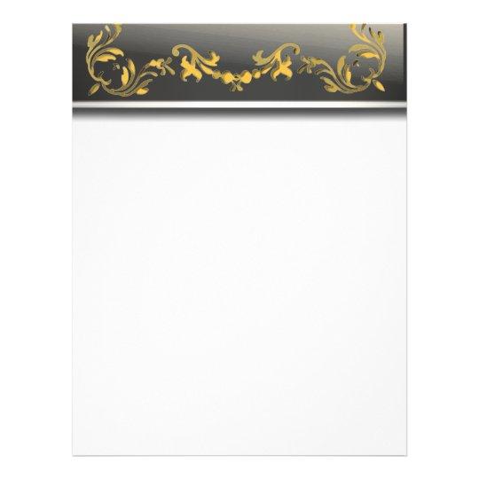 Gold On Black Border Decorative Scroll Flyer