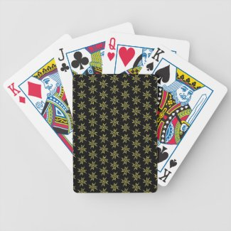 Gold On Black LA Logo Designer Poker Cards