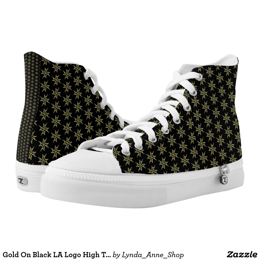 Gold On Black LA Logo High Top