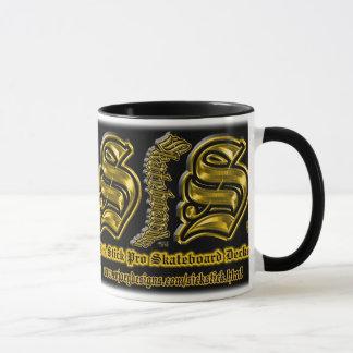 Gold on Black Sick Stick Custom Mug