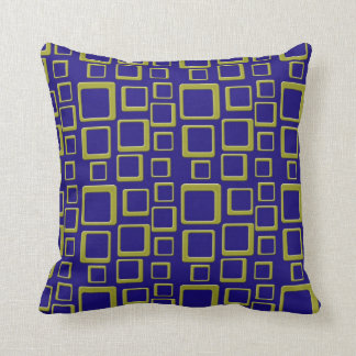 Gold on Blue Feeling Sixties Pillow