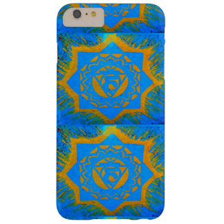 gold on blue tantric symbol barely there iPhone 6 plus case