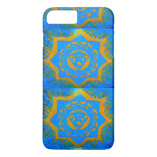 gold on blue tantric symbol iPhone 8 plus/7 plus case