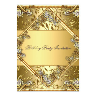 Gold on Gold 2 Any Party Invitation Announcement