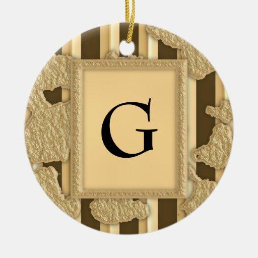 Gold On Gold Ceramic Ornament