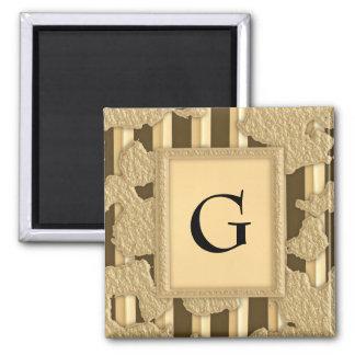 Gold On Gold Magnet
