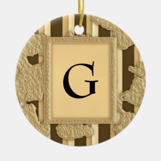 Gold On Gold Christmas Ornaments
