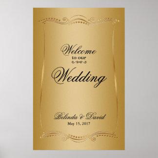Gold on Gold Ornate Elegance Wedding Collection Poster