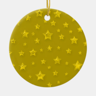 Gold On Gold Starry Ornament